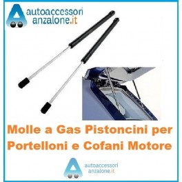 COPPIA MOLLE A GAS PISTONI AMMORTIZZATORI COFANO POSTERIORE PORTELLONE C8-807
