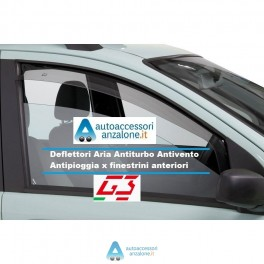 DEFLETTORI ARIA G3 AUDI A1 2010/> 3 PORTE ANTITURBO ANTIVENTO