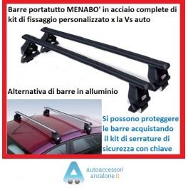 Barre Portatutto Menabo/' Tema per ALFA 147 dal 2000 al 2010 3 porte in acciaio