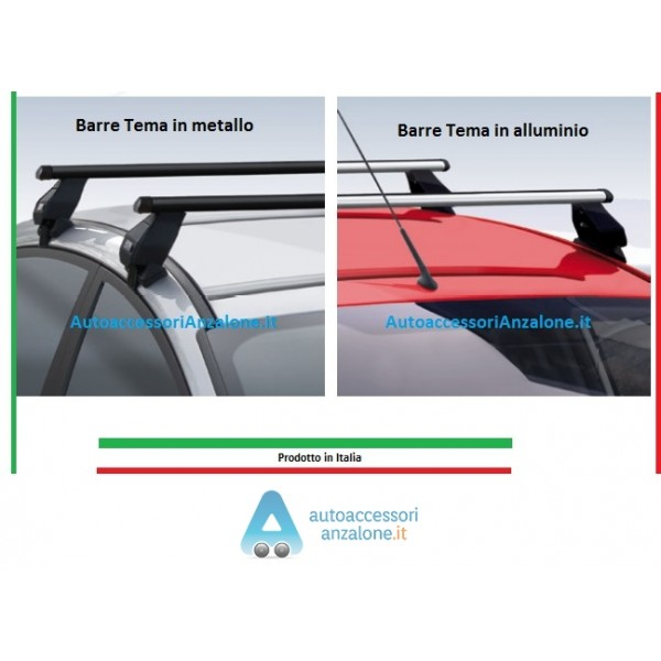 125 cm Barre portapacchi Aero per VW Amarok dal 2010 in alluminio cromato